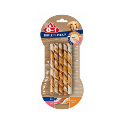 8 in 1 Triple Flavour Twisted Sticks 70g