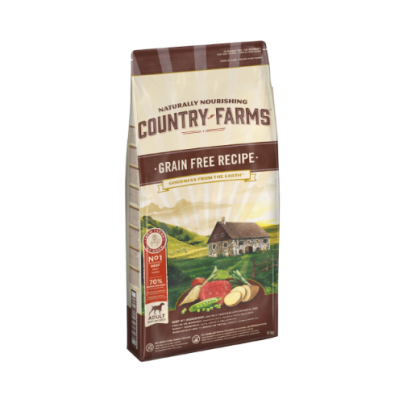 COUNTRY FARMS™ Grain Free Recipe Adult Rich in Beef 2,5-11kg