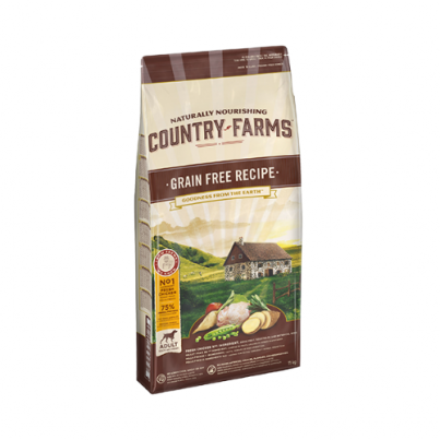 COUNTRY FARMS™ Grain Free Recipe Adult Rich in Chicken 11kg