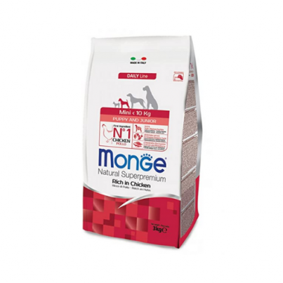 MONGE Daily Line Mini Puppy and Junior Chicken 800g-3kg